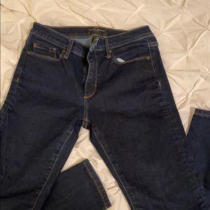 Dark wash mid-rise Banana Republic jeans